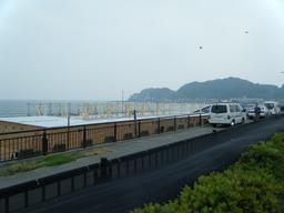 七里ケ浜あたりの海の家