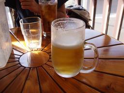 江ノ島でビール