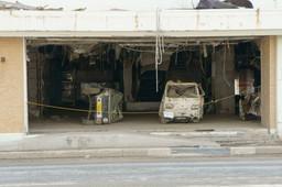 つぶれた車(南三陸町)