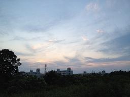 日暮れの空