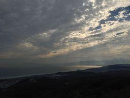 湘南平から海を眺めた