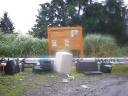 ヤビツ峠の廃棄物