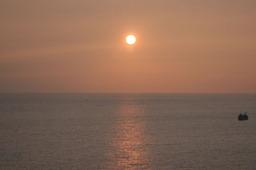 田辺湾の夕日その2