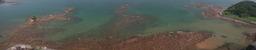 田辺湾の朝の海岸超パノラマ
