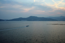 浜名湖の朝