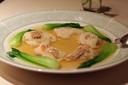 鯛とずわい蟹の酒蒸し干貝風味