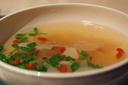 セリとキクラゲのスープ