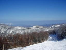 スキー場から日本海
