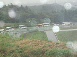 バス大渋滞